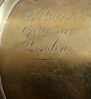 Antique Brass C Burr London 1800s Large Brass Camera Lens