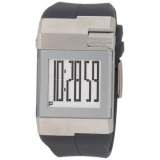 Kenneth Cole Watch Mens Digital Rubber Versatile Calendar Timer