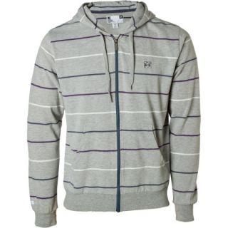 New Mens DC Buster Hoodie Grey Full Zip Down Fleece Jacket M L XL