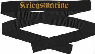 WWII German Navy Cap Hat Kriegsmarine Tally Insignia