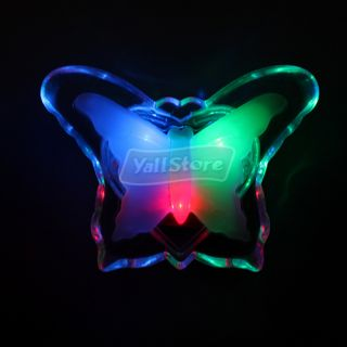 Romantic LED Colorful Butterfly Night Light Bedsid Lamp