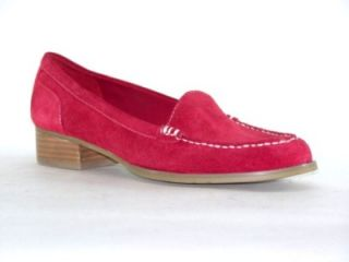 Marc Fisher Calera Womens Shoes Suede Loafers Red 8