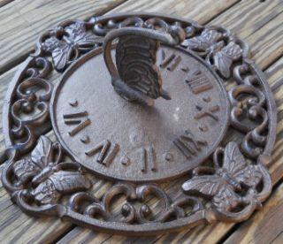 Iron Butterfly Sundial Sun Dial Lawn & Garden Decor Sundials Yard Art