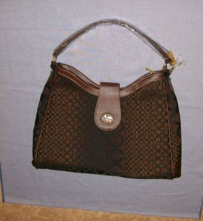 New Designer Inspired Satchel Handbag Purse Bag Brown & Black