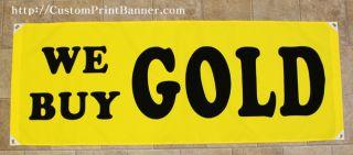2ftx5ft We Buy Gold Banner Sign