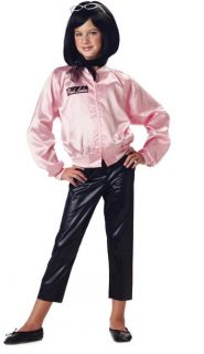 Child Girls Grease Pink Ladies Jacket Halloween Costume
