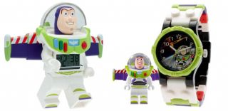 Lego Kids 9004346 Toy Story Buzz Lightyear Two Piece Assortment Clock