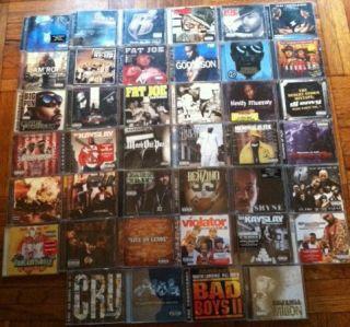 Lot of 40 Hip Hop CD Eminem Busta Rhymes Ghostface Diddy NAS Fat Joe