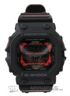 Casio G Shock GX56 1A Classic Big Face Solar Powered Tough Black Red