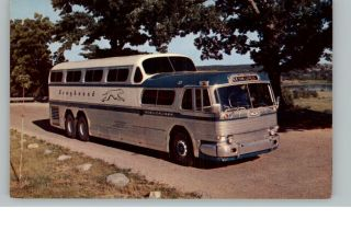 Greyhound Bus Old Postcard