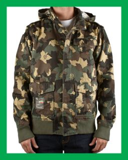 LRG Lifted Research Group Bushman Bomber Jacket Army Black Camo