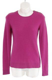 165 C by  100 Cashmere s Tulip Crew Neck Sweater Purple