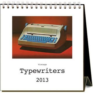 Vintage Typewriters 2013 Easel Desk Calendar