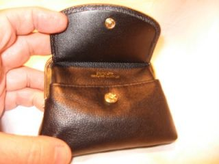 buxton black leather princess coin purse
