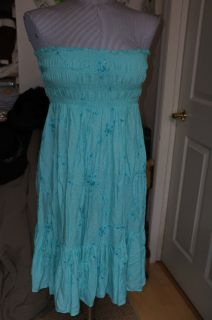Calypso St Barths Christiane Celle Turquoise Sequined Strapless Dress