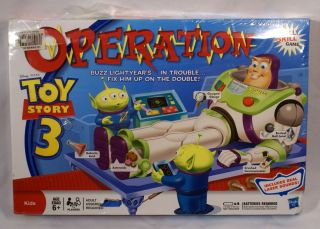 OPERATION Family Game Hasbro New in Package Disney Pixar Buzz Woody