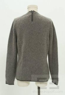 Calvin Klein Collection Grey Cashmere Crew Neck Sweater Size Large
