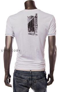 New Calvin Klein Jeans Mens Crew Neck City Graphic Tee T Shirt White
