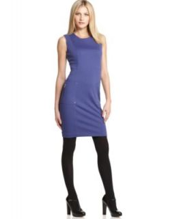 Calvin Klein New Blue Scoop Neck Sleeveless Wear to Work Dress Petites