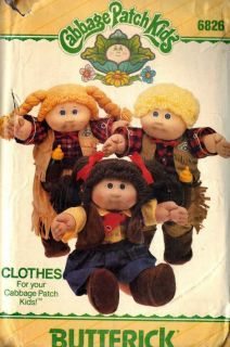 Cabbage Patch Kids Dolls Clothing Patterns Cowboy Cowgirl