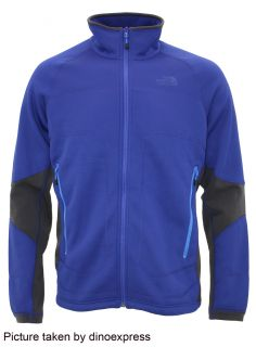 New North Face Mens Stealth Byron Full Zip Fleece Jacket Blue Sz M
