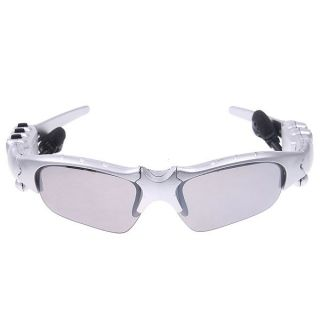 FM Radio Headset Fashion Sport Sunglasses Sun glasses Silver