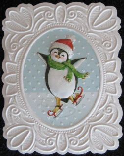15 BOXED CARDS CAROL WILSON MERRY CHRISTMAS HOLIDAY GREETING SKATING