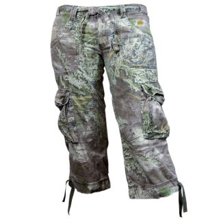 Realtree Girl Max 1 Camo Camouflage Cargo Capri Pants