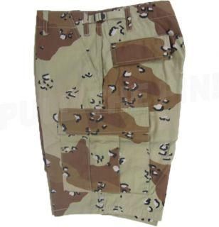 Desert Camo Military BDU Cargo Combat Shorts XS 3XL