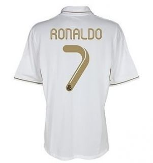 ADIDAS C RONALDO REAL MADRID YOUTH HOME JERSEY 2011 12 LARGE