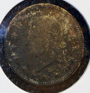 Toned Spielmarke, Made and Signed by Lauer, Depicting Caesar Augustus