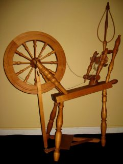 Spinning Wheel Wool Flax Jacob Plum Cabinet Maker Ohio Early Am 36