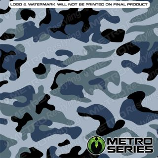 HD Large Navy Camouflage Vinyl Wrap Film 3M 1080 Controltac Adhesive