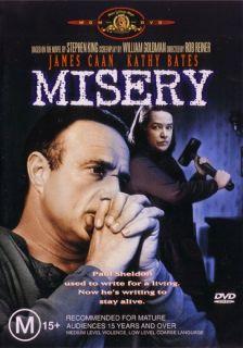 Misery Stephen King James Caan Kathy Bates New DVD