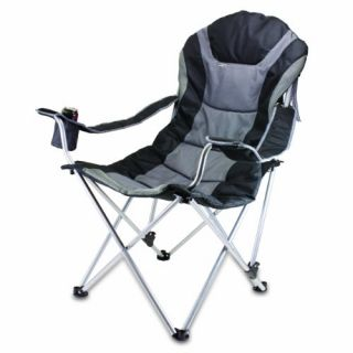 Time Portable Reclining Camp Chair Folding Chair Chairs New
