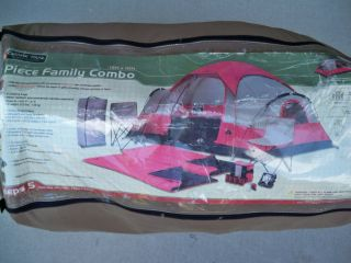 Ozark Trail 13 Piece Family Combo Camping Kit 5 Person Tent 2 Sleeping