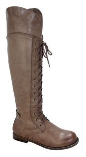 BLOSSOM CANA 5 Women¡¯s round toe lace up thigh high riding boots on