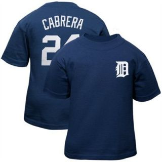 Detroit Tigers Miguel Cabrera Jersey Navy Infant Baby T Shirt Sz 6 9