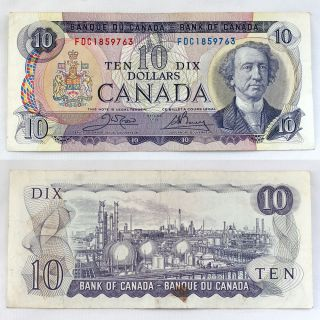 1971 ETK4067204 Canadian Bank of Canada $10 Dollar Bill Paper Money