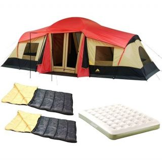 Ozark Trail Family Camping Value Bundle Sleeps 10 Person 20x11 Tent