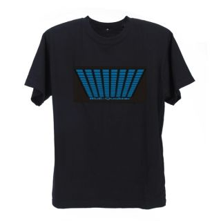 Black LED Sound Activated El Equalizer T Shirt 00158 XL
