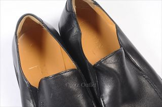 375 Bally Black New CADDO Loafer Leather Shoe 7 New