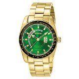 Mens Invicta 6320 Green Dial Calendar 45mm Day Date Callender Watch NR