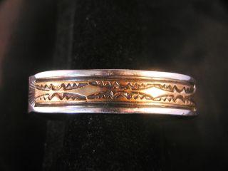 Darin Bill Sterling Silver Gold Fill Bracelet 96 4 gr Stunning Native