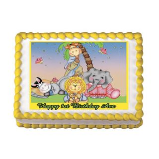 Animals Baby Shower 1st Birthday Edible Party Cake Topper