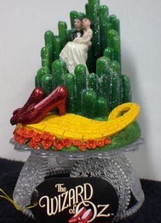 Emerald City Wizard of OZ Wedding Cake Topper ruby slipper bride groom