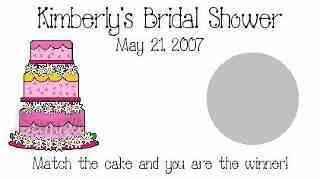Whimsical Wedding Cake Bridal Shower Scratch Off Game