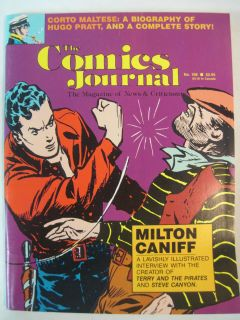 COMICS JOURNAL #108 MAY 1986 MILTON CANIFF CORTO MALTESE HUGO PRATT