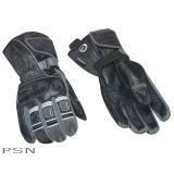 Can Am Spyder Roadster Black Motorcycle VSS Leather Riding Gloves Mens