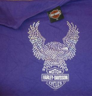 Harley Davidson Long Sleeve T Shirt Camarillo Vtg Purple Motorcycle